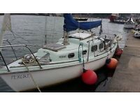 HALCYON 23ft Yacht and Tender with moorings in Falmouth