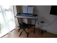 Electronic Piano RockJam RJ661 with stand, stool and headphones