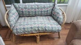 cane 4 piece suite in good cond £45