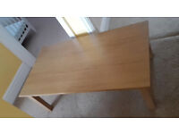 For sale used oak effect coffee table