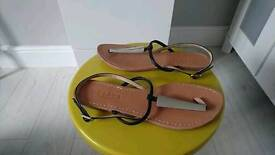 Office leather sandals size 6. New