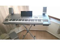 Yamaha Tyros 1 with speakers and subwoofer