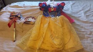 Disney Store Snow White 3T dress, crown and wand, brand new!