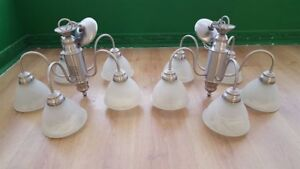 """silver """"antique"""" looking chandalier - great condition!!"""