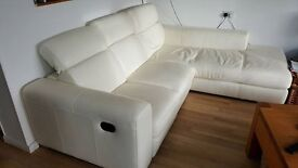Excellent condition Cream Leather Sofa