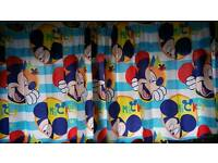 Mickey curtains clock height chart