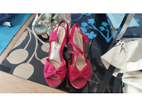 pink wedges size 4