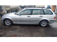 BMW 318 Estate 2000 r Silver LONG MOT very clean car !!