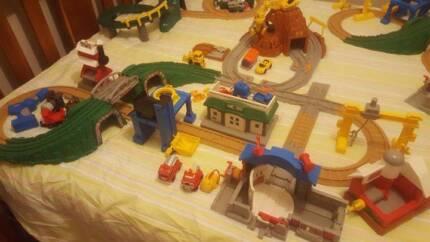 GeoTrax Fisher Price Train Sets Geo Trax 3 sets