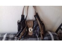 Ladies handbag. brown & beige. good used condition