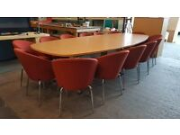 Large Boardroom table with 14 chairs