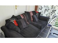 2 & 3 seater sofas, black and red. Great condition.