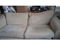 Free to collector Next large beige sofa