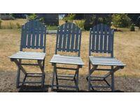 3 Garden chairs