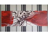 Canvas Wall Art Red Splashback