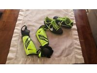 Football trainers size 13 and 2 protectors