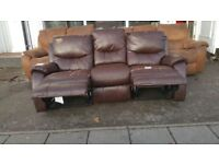 Harveys Three Seater Leather Sofa Recliner Ex display new still have labels has some storage marks