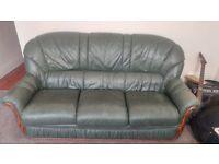 Green sofa good condition