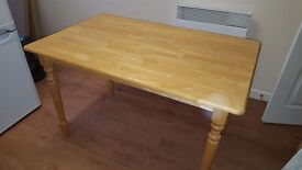 Sturdy Wooden Dining Room / Kitchen Table