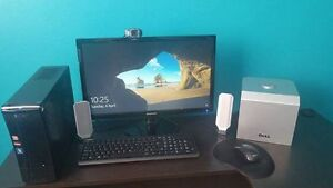 Acer Computer with new Samsung Monitor and webcam