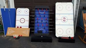 Fooseball, Air Hockey, & 5-in-1 games