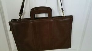 Brown Leather Briefcase/Laptop Bag-Like New--Yorkton,SK--Reduced