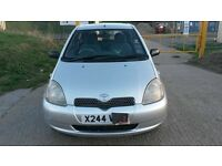 Toyota yaris 3 door manual,12 Months MOT,CD player, Aircon,2 new tyres,alloy rim, only 550 pounds
