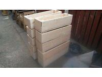 solid wood planters 27 inch x 6inchx6inch