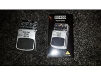Digital delay pedal, Behringer, £30 only;
