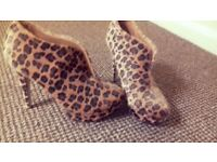 Gorgeous Leopard Shoe Boots Brand New Size 6