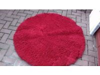 red fusion rug