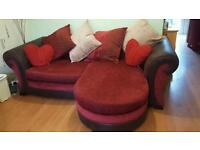 Red and Brown Sofa
