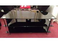 Glass TV Stand with 3 Shelves