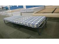 Fold away camper bed