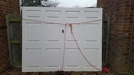 Wessex white gloss garage door