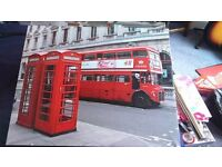 2x London Bus Canvas