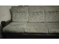 Free three seater sofa and one arm chair