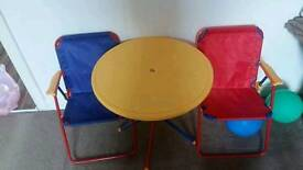 Children picnic table and chairs