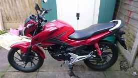 Honda CB125F motorbike great condition low milage £1800 ono