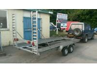 Car transporter trailer twin axle new tyres, lights