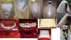 Ivory Wedding Dress & Accessories