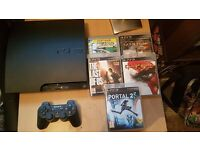 PS3 with all leads, controller and games