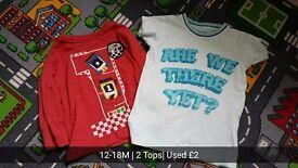 12-18M 2 Boy Top's