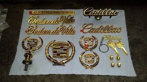 New Gold Package Cadillac Sedan DeVille Emblems