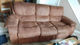 3 seater and 2 seater reclining sofa excellent condition