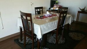 Moving Sale --Dining Table along with 4 chairs