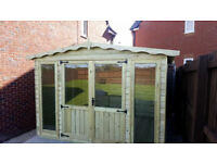 12x8 Summer House Apex Contemporary Summehouse Shed Cabin T&G 16mm Top Quality