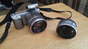 Sony NEX-5 Mirror-less Camera 2 lens