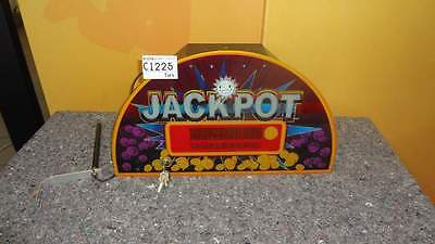 Merkur Jackpot Aufsatz, Casinotopper Geldspielerdisplay, Dekoration defekt C1225