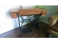 Original Singer Sewing Machine Table